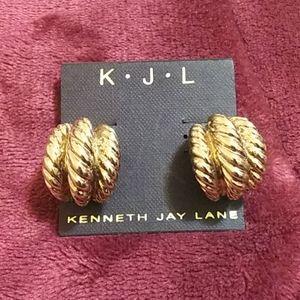 KJL New gold tone earrings